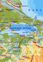 marmara fiziki haritası