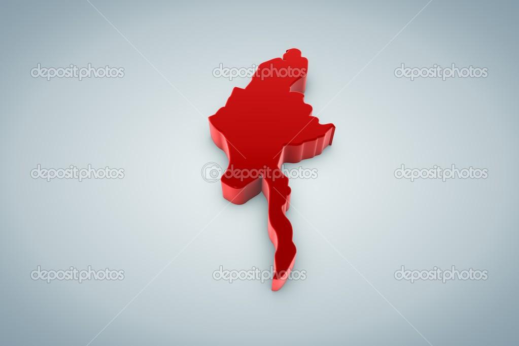 Myanmar haritası