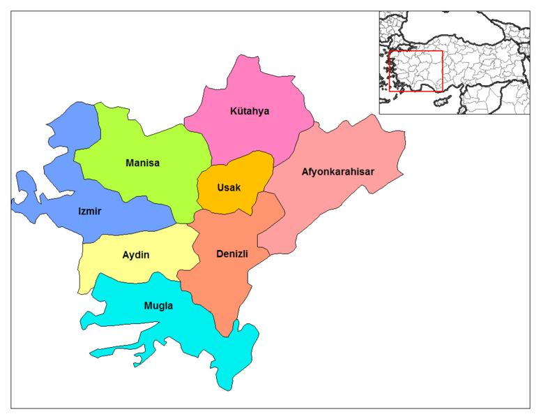 Image result for izmir bölgesi haritası