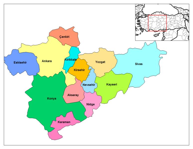 Iç anadolu bölge haritası resimleri başlıklı konumuzu değerli