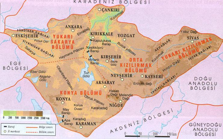 Haritası indir,iç anadolu bölge haritası canlı,iç anadolu bölge