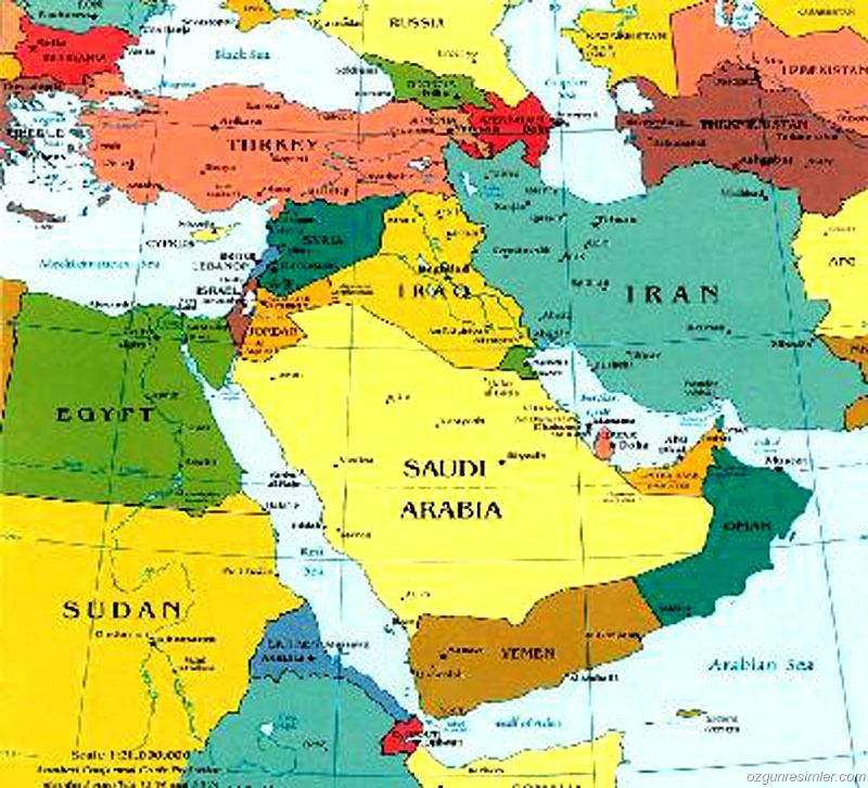 иран и саудовская аравия на карте если