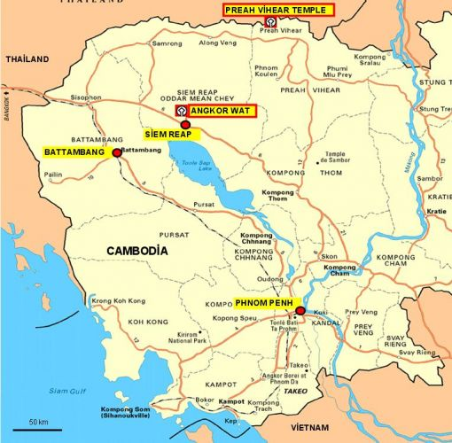 kamboçya haritası