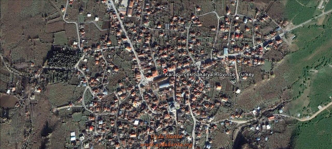Karapürçek uydu görüntüsü