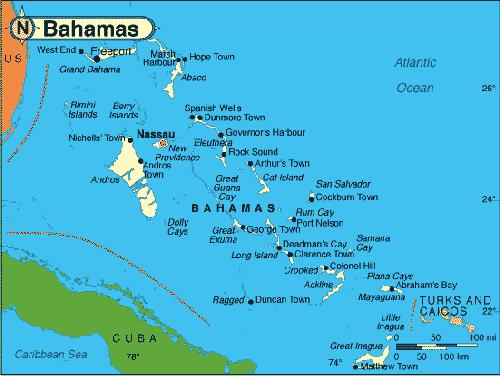Bahama Islands World Map