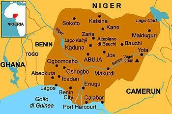 nijerya haritası