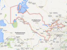 özbekistan haritası