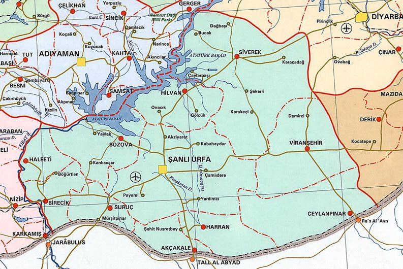 şanlıurfa haritası resimleri