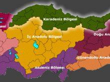 turkiye bolgeler haritasi