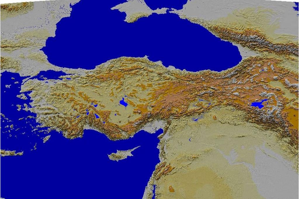 turkiye fiziki haritasi