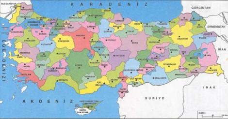 turkiye siyasi haritasi 1
