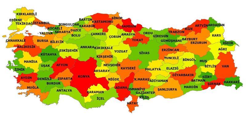 turkiye siyasi haritasi