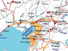 hatay haritası resimleri